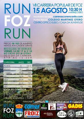 "VII CARERA ""RUN FOZ RUN"" - Foz (Lugo), 15-08-2015"