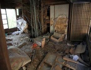 廃屋の風景画像
