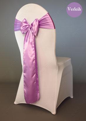 Stuhlschleifen in Farbe hellflieder / flieder mieten