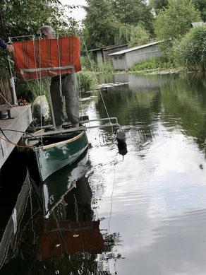 Segel auf Kanu Eigenbau