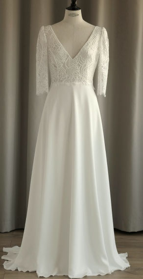 robe de mariée avec manches yvelines saint germain en laye