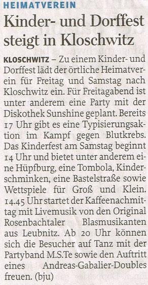 Freie Presse 21.06.2017