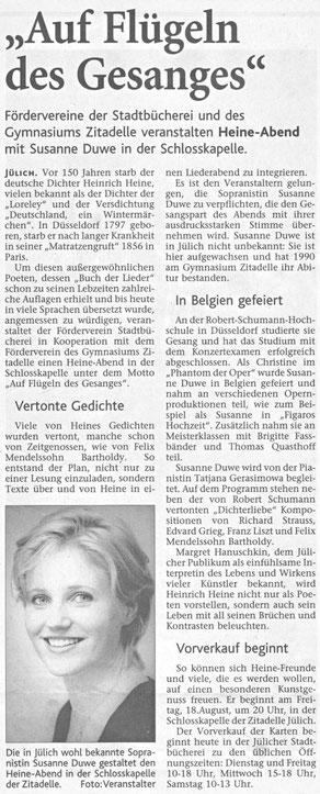 Jülicher Zeitung vom 21.07.2006