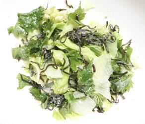 レタスと大葉の塩昆布ナムル