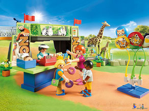 Besonderheiten im Playmobil Paket 70341 sind die vielen Tierarten, die man  ganz aus der Nähe beobachten kann.