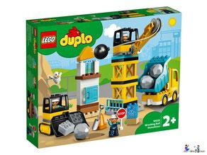 """Bei der Bestellung im Onlineshop der-Wegweiser erhalten Sie das Lego Duplo Paket 10932 """"Baustelle mit Abrissbirne""""."""