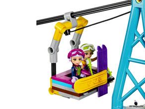 Die Besonderheit im Lego Paket 41324 ist eine coole Gondelbahn.