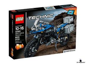 """Bei der Bestellung im Onlineshop der-Wegweiser erhalten Sie das Lego Technic Paket 42063 """"BMW R 1200 GS Adventure""""."""
