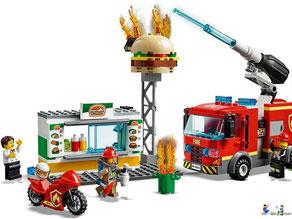 Im Paket Lego 60234 Feuerwehreinsatz im Burger Restaurant sind 234 Einzelteile enthalten.