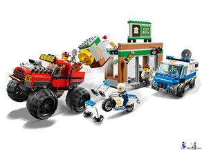 Im Paket Lego 60245 Raubüberfall mit dem Monster-Truck sind 362 Einzelteile enthalten.