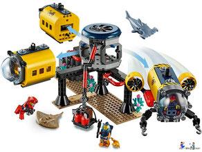Im Paket Lego 60265 Meeresforschungsbasis sind 497 Einzelteile enthalten.