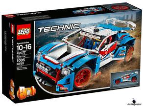 """Bei der Bestellung im Onlineshop der-Wegweiser erhalten Sie das Lego Paket 42077 Technic """"Rallyeauto""""."""