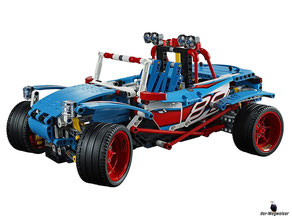 Das Lego Paket 42077 ist ein 2-in-1-Modell, das Rallyeauto lässt sich in einen Buggy umbauen.