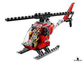 Die Besonderheit im Lego Paket 60174 Hauptquartier der Bergpolizei ist ein Ganovenhubschraube mit dem man die Bergpolizei narren kann.