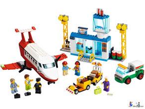 Im Paket Lego 60261 Flugzeug sind 286 Einzelteile enthalten.