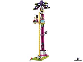 Die Besonderheit im Lego Paket 41130 Grosser Freizeitpark ist ein Freifallturm in schwindelte Höhe.