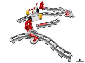 Im Paket Lego 10882 Eisenbahn Schienen SET sind 17 Einzelteile enthalten.