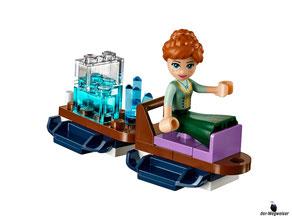 Juhuui rodle mit Elsa den Hang hinunter.