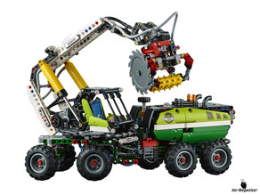 Im Paket Lego 42080 sind 1003 Einzelteile enthalten.