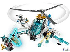 Im Paket Lego 70673 sind 361 Einzelteile enthalten.
