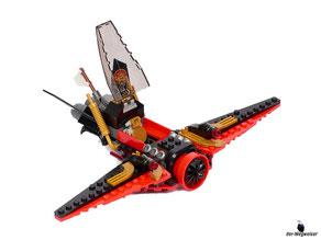 Die Besonderheit im Lego Paket 70650 ist ein Klappe beim Cockpit zum öffnen.