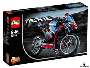 """Bei der Bestellung im Onlineshop der-Wegweiser erhalten Sie das Lego Paket 42036 """"Lego Technic Strassenmotorrad""""."""