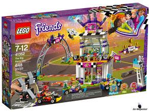"""Bei Bestellung im Onlineshop der-Wegweiser erhalten Sie das Lego Paket 41352 """"Das grosse Rennen""""."""