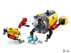 Die Besonderheit im Lego Paket 60265 können Kinder mit dem Meeresforschungsbasis zu fantasievollen Unterwasserabenteuer aufbrechen.