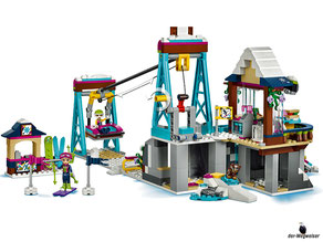 Im Paket Lego 41324 Skilift im Wintersportort sind 585 Einzelteile enthalten.
