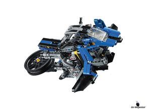 Die Besonderheit im Lego Paket 42063 ist die fantastische Nachbildung mit viele Details und Besonderheiten des Designs.