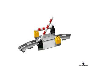 Die Besonderheit im Lego Paket 10882 ist die funktionsfähige Schranke.