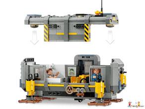Die Besonderheit im Lego Paket 70916 Batman Movie Batwing ist der rotierende Booster mit verstellbare Flügel, die sich in den Flug- oder Landemodus schwenken lassen.