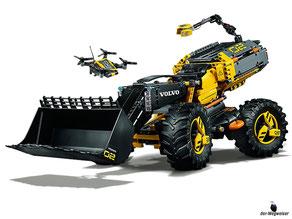 Im Paket Lego 42081 sind 1167 Lego Einzelteile  und eine Anleitung enthalten.