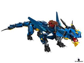 Die Besonderheit im Lego Paket 70652 ist eine feurige Zunge.