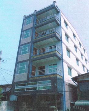 RCCビル5階建 ヤンゴンに建設