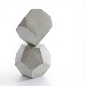 Geometric Concrete Modular Sculpture by PASiNGA
