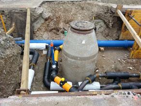 Übergabeschacht für Entwässerung