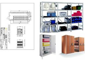 Regalsystem Planung & Einrichtung Möbel Mobilregale Rollregale montieren und liefern