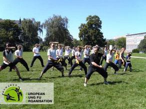 Gruppentraining der Jing Wu Schule Köln