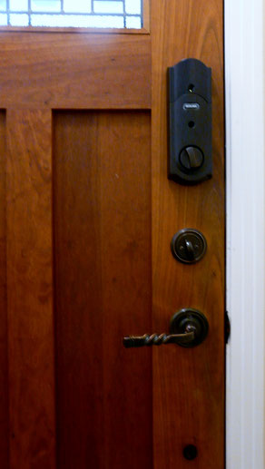 Schlage Touchscreen Deadbolt Installation Interior