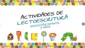 ACTIVIDAES DE LECTOESCRITURA (Inf. 3 años)