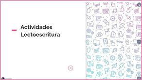 ACTIVIDADES LECTO-ESCRITURA