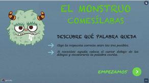 EL MONSTRUO COMESÍLABAS