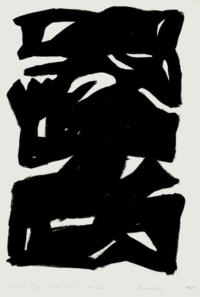 Großer Kopf, über Europa hinaus, Acrylfarbe, 100/70 cm, 1988