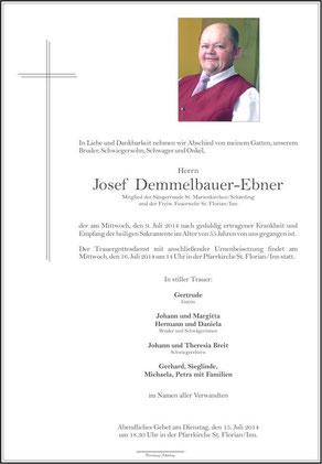 Parte Demmelbauer-Ebner Josef