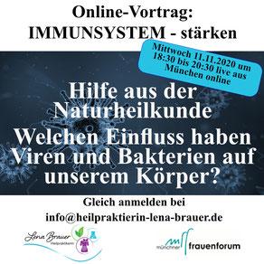 Vortrag Gesundheit Immunsystem stärken Heilpraktikerin Lena Brauer München Naturheilkunde