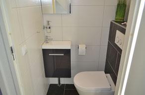 Modernes Gäste WC Ferienhaus Zeeduin