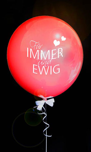 Bubble Ballon Luftballon für immer und ewig Liebe Love Mädchen rosa Hochzeit Braut Geschenk beschriftet Helium Heliumballon personalisiert individuell Namen Versand Wunschbubble