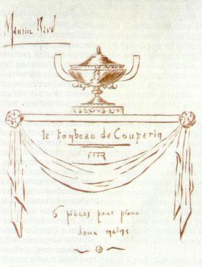 Le tombeau de Couperin, Titelblatt,