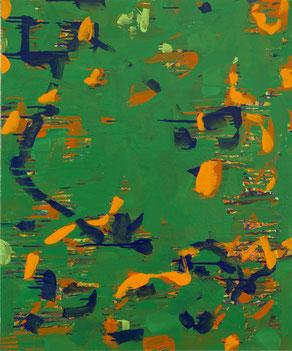 炎熱     キャンバスに油彩    72.7×60.6cm
